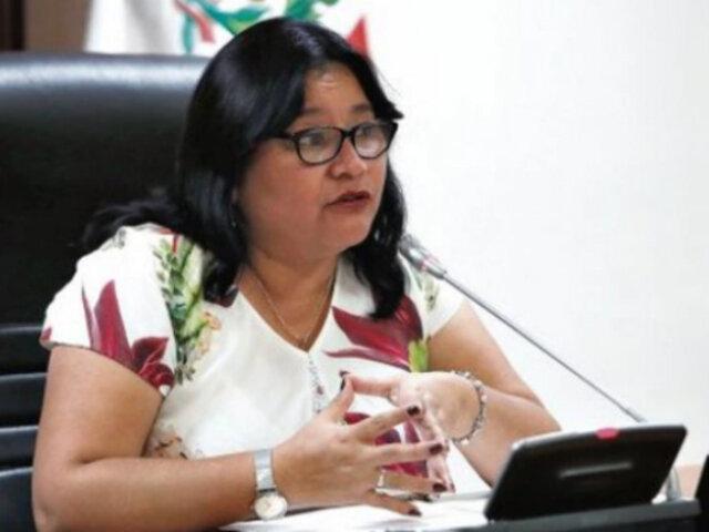 Janet Sánchez considera que debería seguir en presidencia de Comisión de Ética