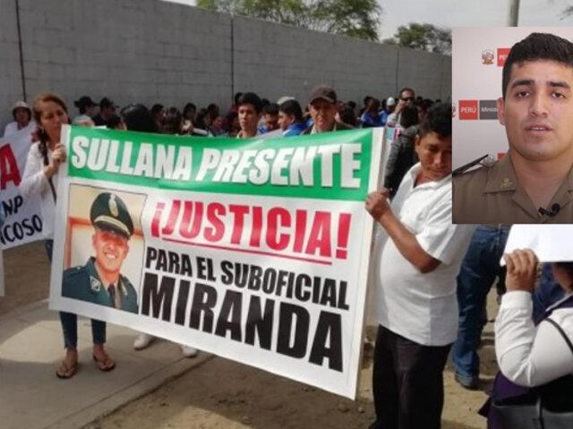 Elvis Miranda: familiares y amigos marchan exigiendo justicia para el suboficial