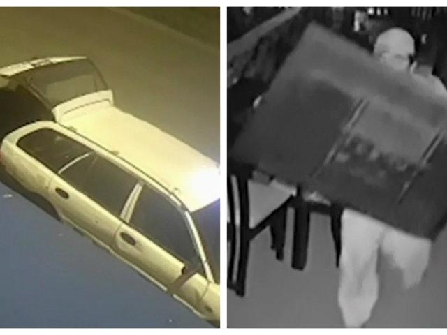 VES: delincuentes son captados robando televisores y dinero de cevichería