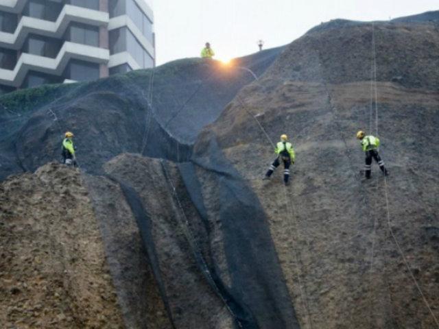 MML anuncia colocación de nuevas geomallas en la Costa Verde
