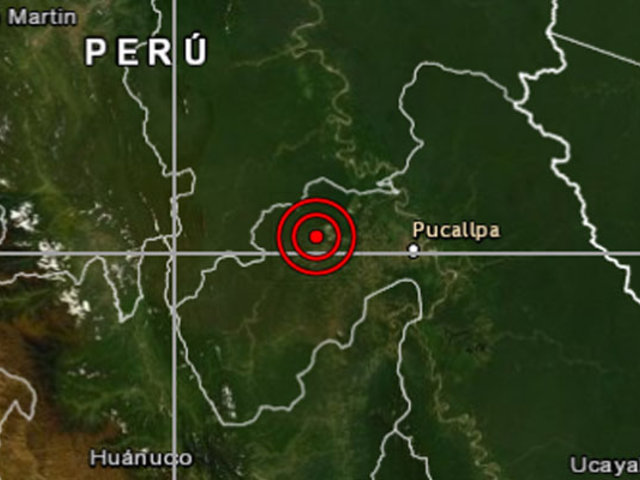 Sismo de 5.3 se registró esta mañana en Ucayali