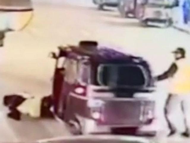 Cañete: mototaxista embiste a inspector durante operativo