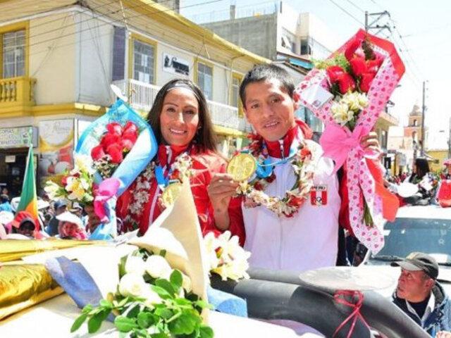 Lima 2019: Gladys Tejeda y Christian Pacheco reciben homenaje en Huancayo