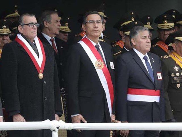 Presidente Vizcarra encabezó celebración por aniversario del Ejército