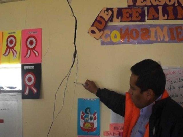 Junín: reportan daños en tres colegios tras sismo de magnitud 4.6