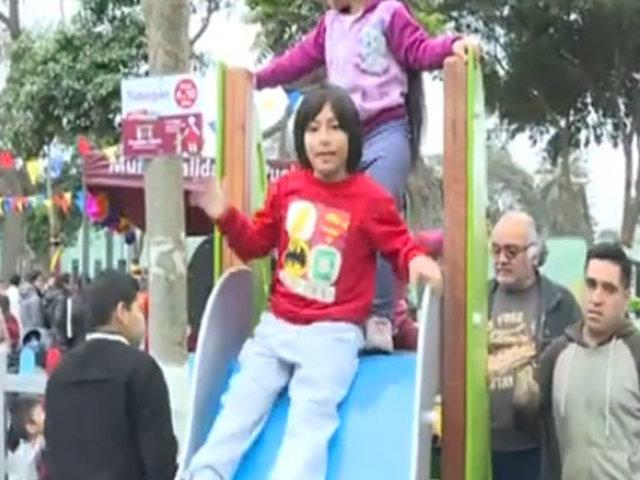 Pueblo Libre: inauguran parque con juegos inclusivos en favor de niños con discapacidad