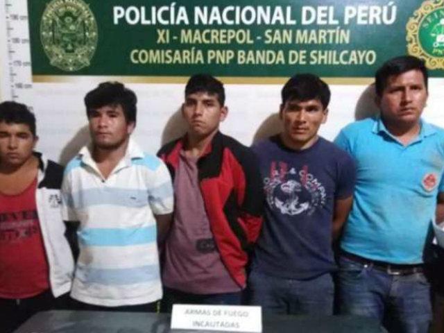 Tarapoto: PNP frustra asalto en grifo y captura a cinco delincuentes