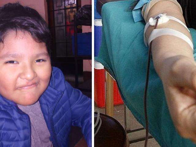 Niño que padece enfermedad sanguínea necesita con urgencia donantes de sangre