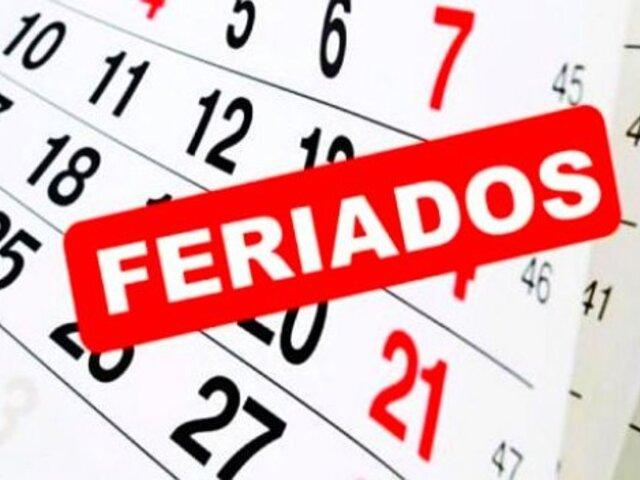 2021: ¿Qué días feriados y no laborables trae el nuevo año?