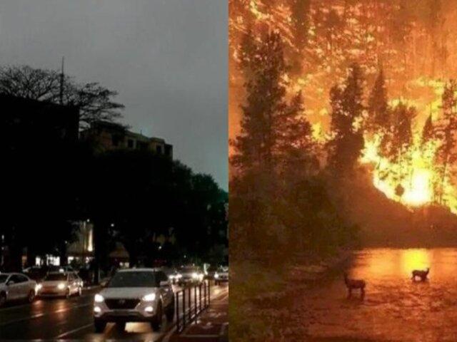 Incendios en la Amazonía: Sao Paulo anochece a las tres de la tarde