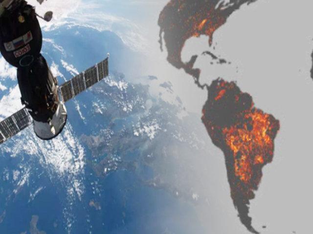 NASA muestra cómo se ven los incendios del Amazonas desde el espacio