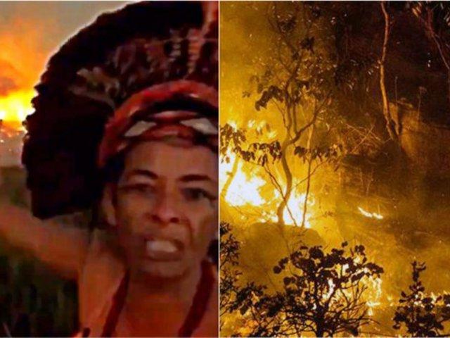 Incendios en la Amazonía: mujer pide ayuda al ver cómo se destruye su hogar