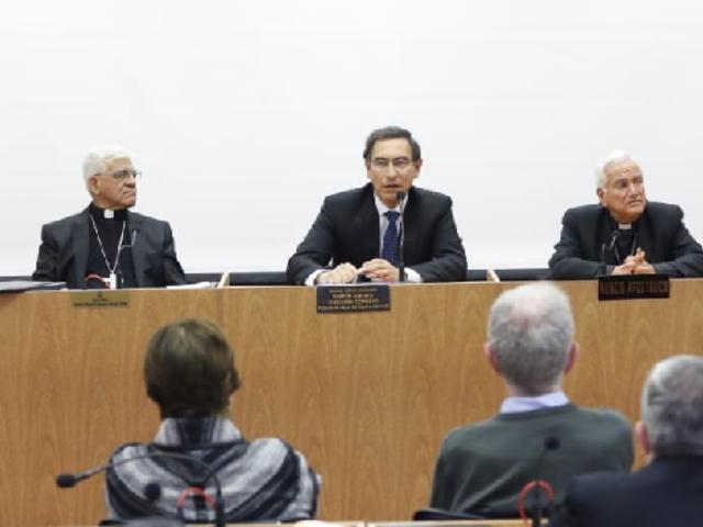 Presidente Vizcarra participó en Asamblea Plenaria del Episcopado Peruano