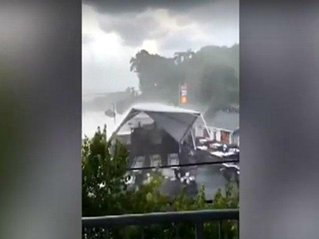 EEUU: impactantes imágenes dejaron tormentas en Washington y Carolina del Sur