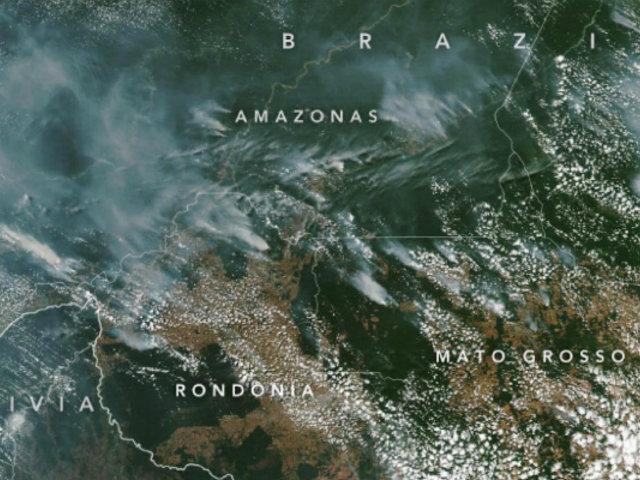 Nasa explica algunas de las causas de los incendios en la Amazonía