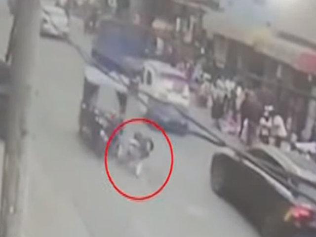 Santa Anita: mototaxi atropella a escolar y se da a la fuga
