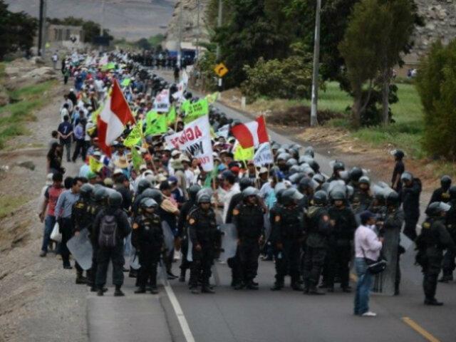Tía María: se registran protestas por reinicio de paro en Arequipa