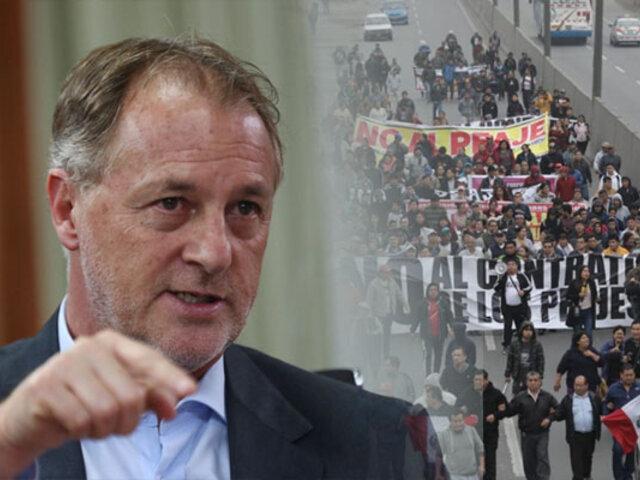 Muñoz: Las personas se pueden manifestar pero no con protestas violentas