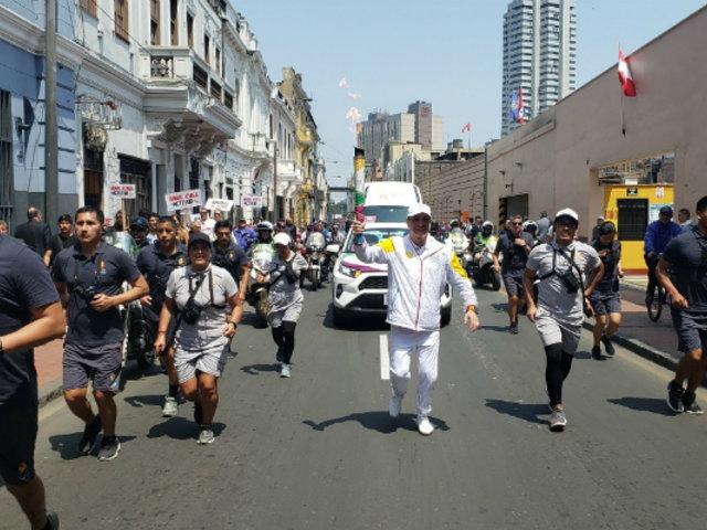 Juegos Parapanamericanos 2019: antorcha recorre calles del Centro Histórico de Lima