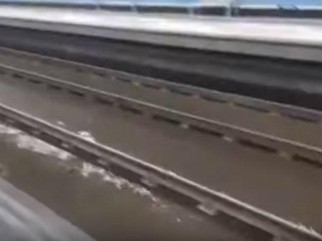 España: calles de Madrid inundadas tras aguacero