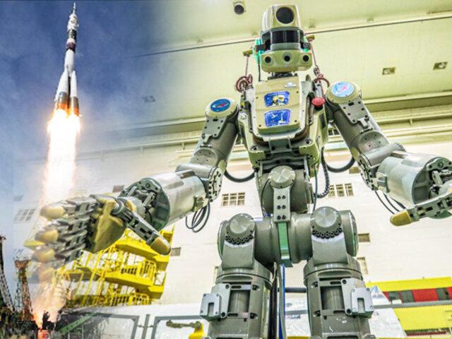 Ya está en el espacio el primer robot humanoide ruso