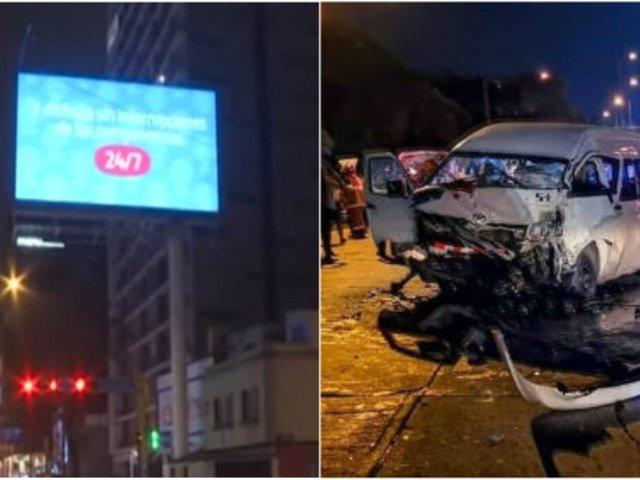 Barranco: paneles publicitarios luminosos podrían provocar accidentes de tránsito