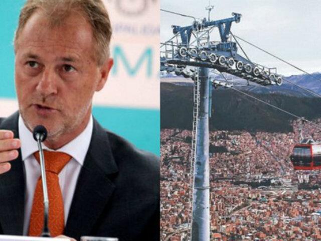 Muñoz sobre teleféricos: construcción iniciaría después de Parapanamericanos