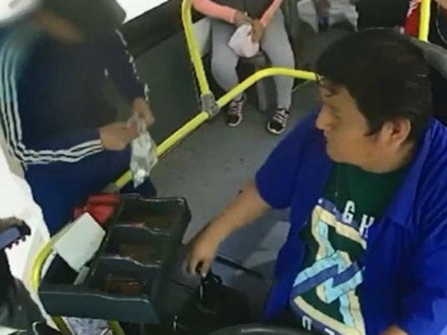 Trujillo: cámaras captaron asalto a bus de transporte