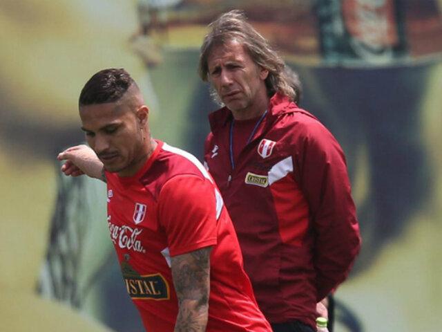 Paolo Guerrero no terminó su entrenamiento previo al duelo contra Uruguay