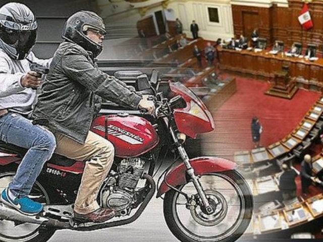 Proyecto para prohibir tránsito de dos pasajeros en motos aún no es debatido en el Congreso
