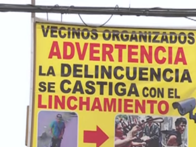 Comas: colocan carteles donde advierten a ladrones que serán linchados
