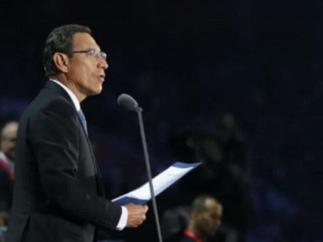Presidente Vizcarra inauguró Juegos Parapanamericanos Lima 2019