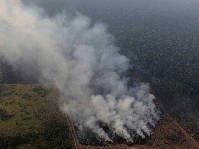 Brasil: FFAA  comenzaron a apagar el fuego en la Amazonía
