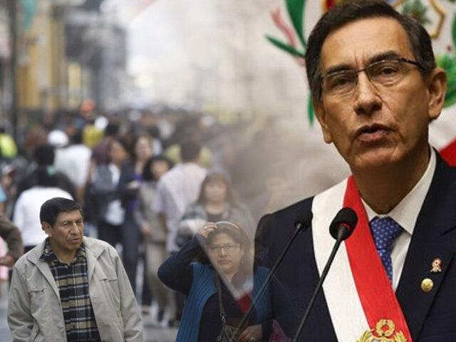 Encuesta Ipsos: respaldo a presidente Martín Vizcarra sube al 87%