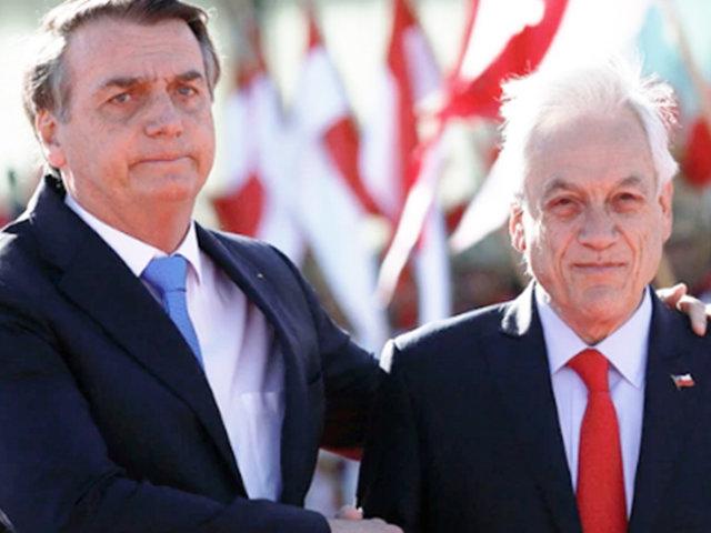 Brasil: Sebastián Piñera llegó para examinar incendios con Jair Bolsonaro