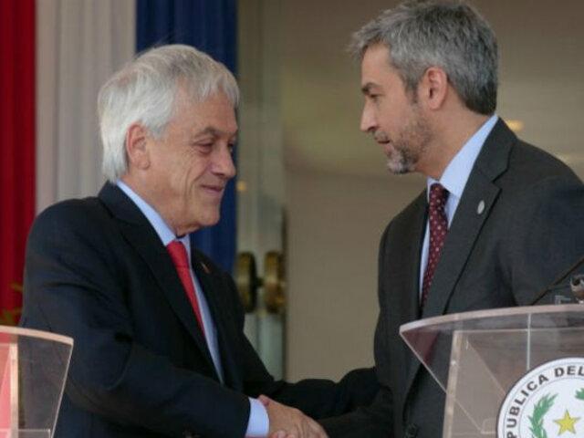Sebastián Piñera llevó aviones cisterna a Paraguay para combatir incendios