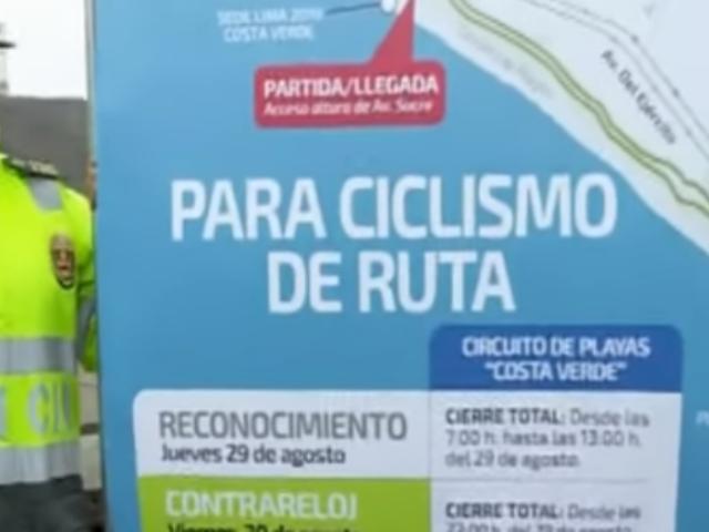 Cierran tramo de la Costa Verde por Juegos Parapanamericanos