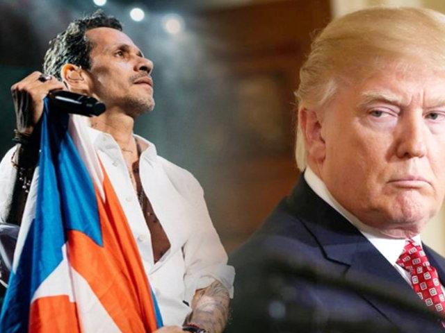 Marc Anthony arremete contra Trump por su comentario sobre Puerto Rico