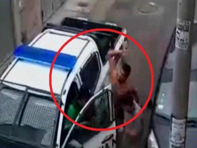 Hombres golpean a serenos tras ser intervenidos por beber licor en la vía pública