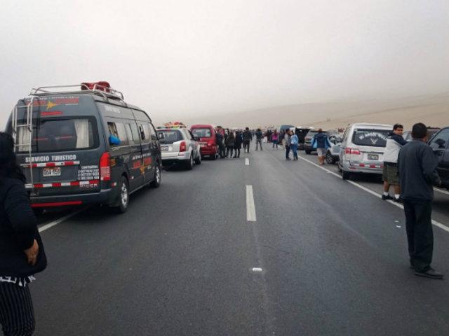 Variante de Pasamayo: bus interprovincial se vuelca y deja varios heridos