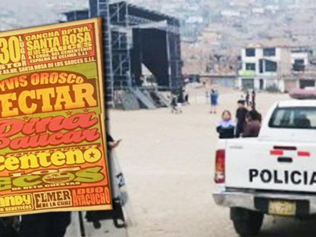 San Juan de Lurigancho: vecinos intentaron realizar concierto en complejo arqueológico