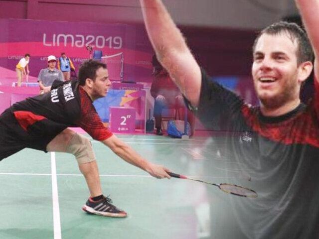 Lima 2019: Pedro Pablo de Vinatea ganó medalla de oro en Para Bádminton