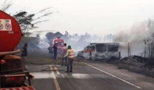Brasil: seis muertos deja accidente de tránsito causado por humo de incendios