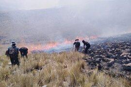 Tras dos días de intenso trabajo sofocan incendio forestal en Arequipa