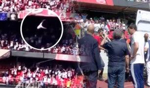 Brasil: aficionado cae de grada durante encuentro de fútbol