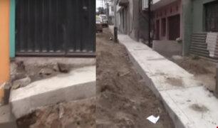 VES: obras de pistas y veredas bloquean el ingreso a más de 20 viviendas