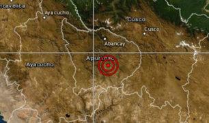 Sismo de magnitud 4.8 se registró esta mañana en Apurímac