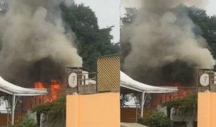 Barranco: se registra incendio cerca a colegio 'Los Reyes Rojos'