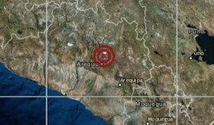 Sismo de magnitud 3.5 se registró esta tarde en Arequipa