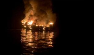 Al menos 25 muertos y 9 desaparecidos tras incendiarse un barco en California